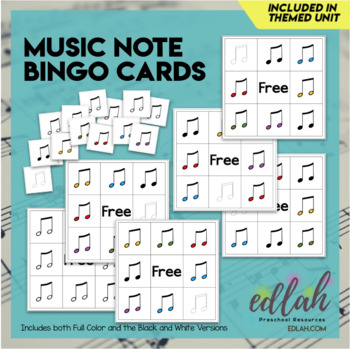 Music Note Bingo (5 cards included)