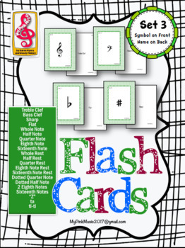 Music Note Flash Cards! (FREEBIE included in download) set 3