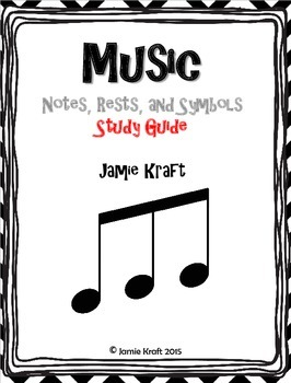 Music Notes, Rests, and Symbols Study Guide