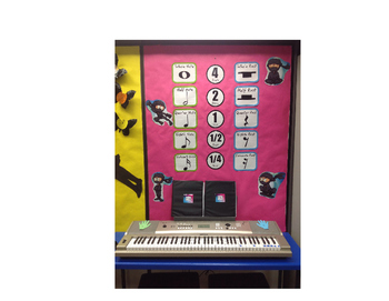 Music Note and Rest Bulletin Board