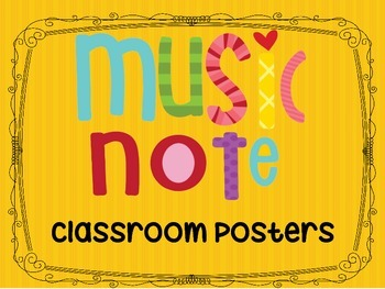 Music Notes Classroom Posters