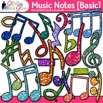 Music Notes Clip Art BASIC PACK {Rhythm, Notation, and Sym