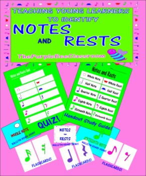Music Notes and Rest Posters/Classroom Signs