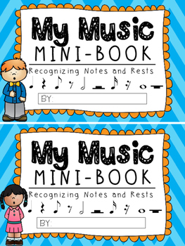 Music Notes and Rests:  Music Mini Book