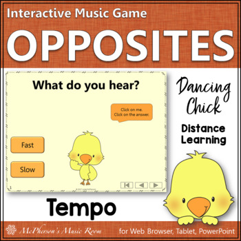 Music Opposite Fast or Slow Interactive Music Game {Dancin