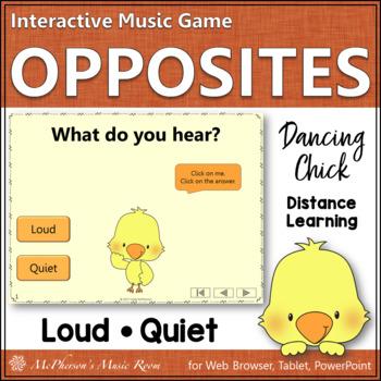 Music Opposite Loud or Quiet Interactive Music Game {Danci