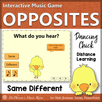 Music Opposite Same or Different Interactive Music Game {D