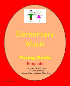 Music Pacing Guide Template Grades K-8