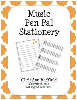Music Pen Pal Stationery