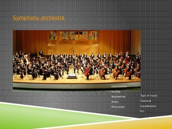 Music Performance Mediums PowerPoint
