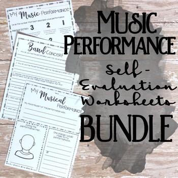 Performance Self Evaluation Worksheets, Bundle
