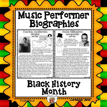 Music Performer Biographies for Black History Month