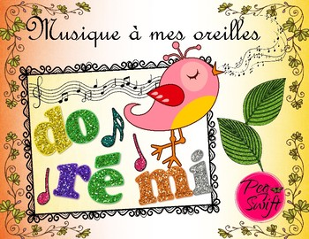 Music Poster Set ~ French ~ do ré mi