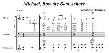 Music Practice Tool - Free Sample Folk Song with Sheet Mus