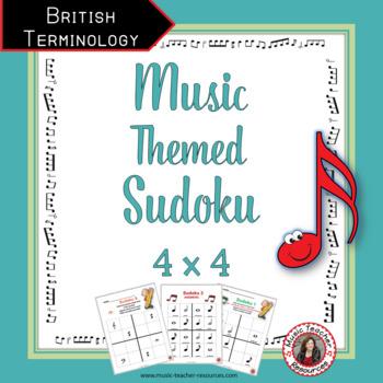 Music Puzzles: SUDOKU  4 x 4 British Terminology