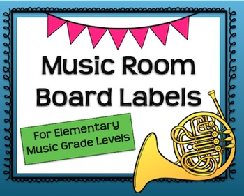 Music Room Board Labels