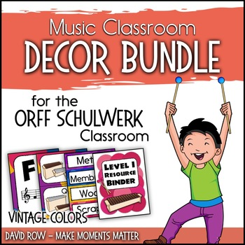 Music Room Decor Kit for the Orff Schulwerk Classroom - Vi