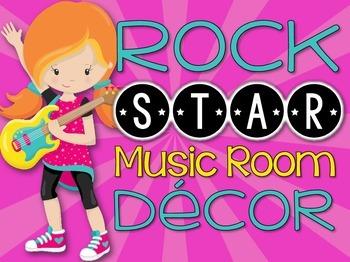 Music Room Decor Kit {Rock Star Theme}