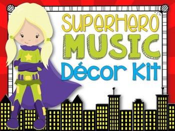 Music Room Decor Kit {Superhero Theme}