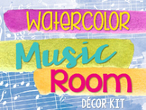 Music Room Decor Kit {Watercolor Theme}