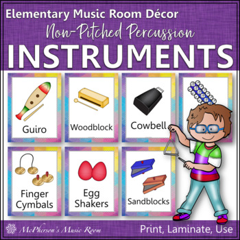 Music Room Décor Non-Pitched Percussion Instrument Posters