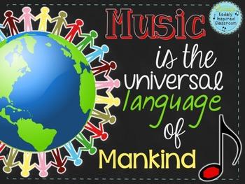 "Music Room Decor Kit: ""Music is the Universal Language of"