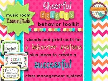 Music Room Essentials - Behavior Toolkit in Cheerful Brights