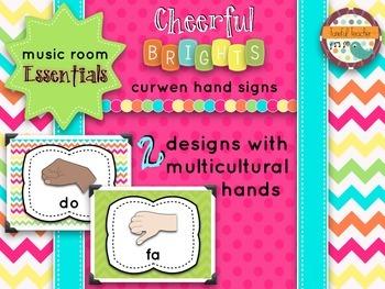 Music Room Essentials - Curwen/Kodaly Hand Signs in Cheerf