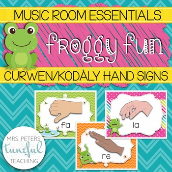 Music Room Essentials - Froggy Fun Curwen/Kodaly Posters