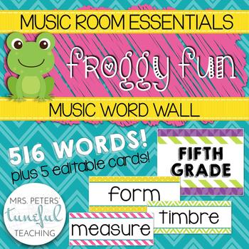 Music Room Essentials - Froggy Fun Music Word Wall