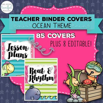Music Room Essentials - Ocean Teacher Binder Covers