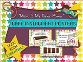 Music Room Essentials - Orff Instrument Posters in Music I