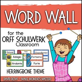 Music Room Word Wall - Herringbone Theme