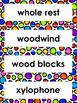 Music Room Word Wall Words- Editable