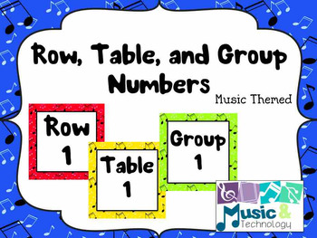 Music Row and Table Number Labels