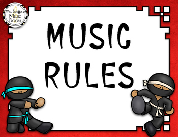 Music Rules {Ninja}{Editable}