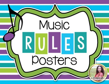 Music Rules Posters {Bright Stripes}
