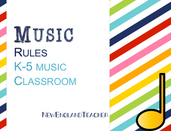 Music Rules for Elementary Music Classroom Decor or Bullet