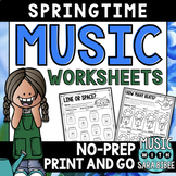 Spring Mega Pack of Music Worksheets- 82 Pages!