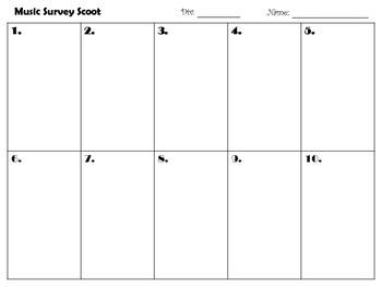 Music Survey Scoot