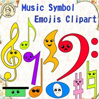 Music Symbol Emojis Clipart