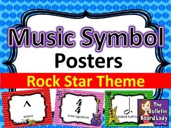 Music Symbol Posters - Rock Star Theme
