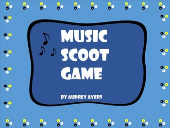 Music Symbol Scoot Game- Notes, Music Symbols, Review