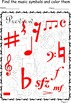 Music Symbols Coloring Pages with answers