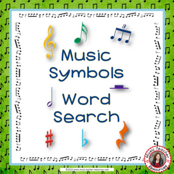 Music Symbols Word Search