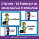 Music Symbols and Notes {Word Wall} American & International