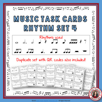 Music Task Cards: Rhythm Set 4