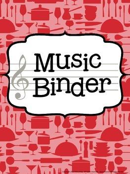 Music Teacher Binder - Cooking Theme