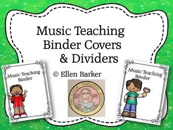 Music Teacher Binder Cover & Dividers