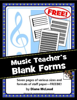 Music Teachers' Blank Forms—FREEBIE!